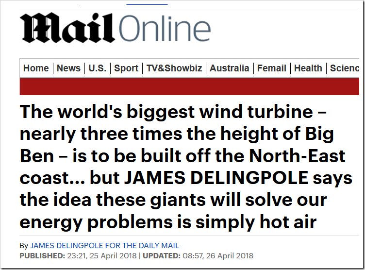 Biggest Wind Turbines Won't Solve Our Energy Problems