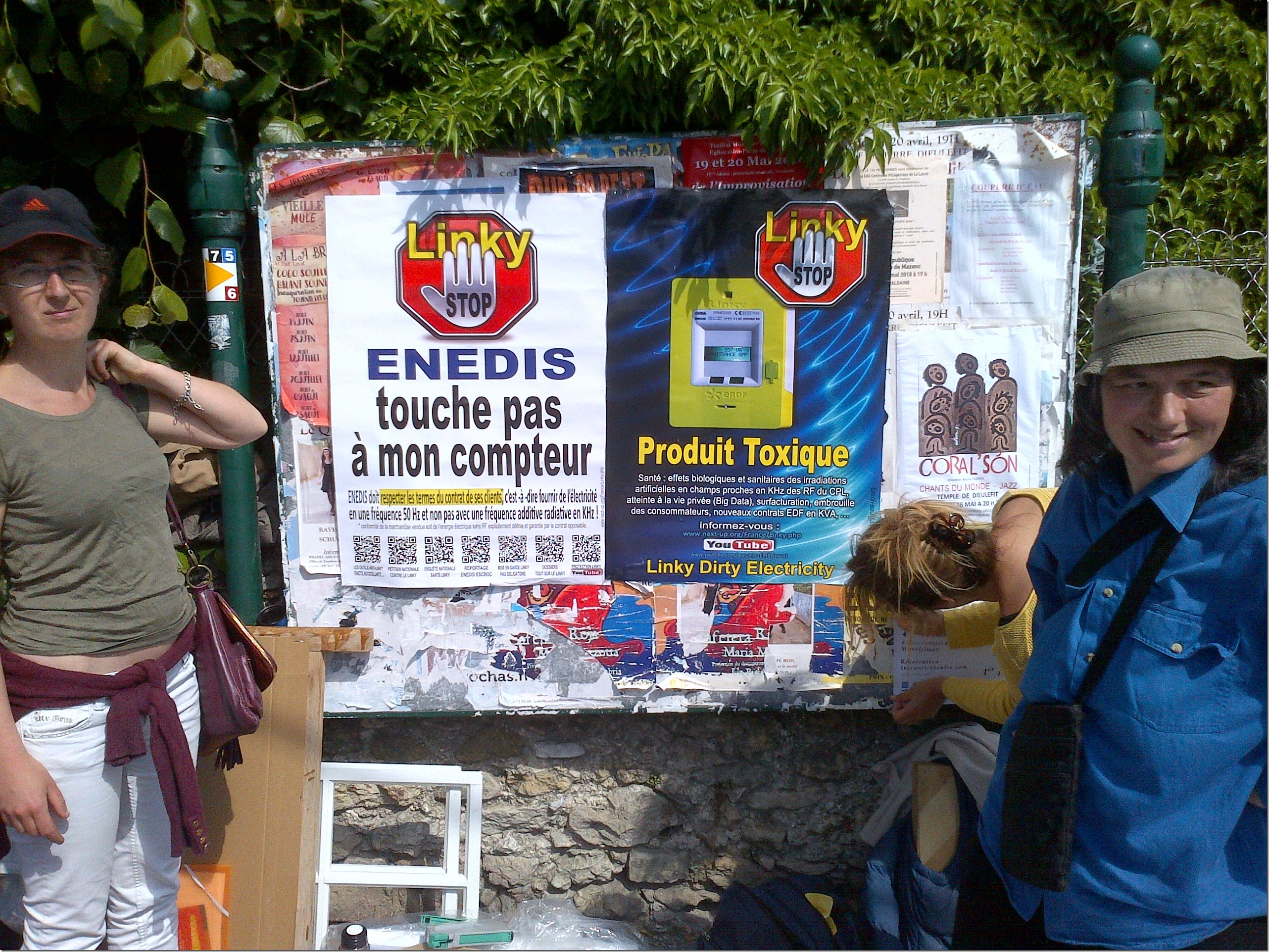 2018 May 17 Dieulefit market,   France, campaign against Linky smart meters[5333]