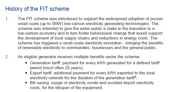 FIT Scheme Costs Balloon To £1 6bn   NOT A LOT OF PEOPLE
