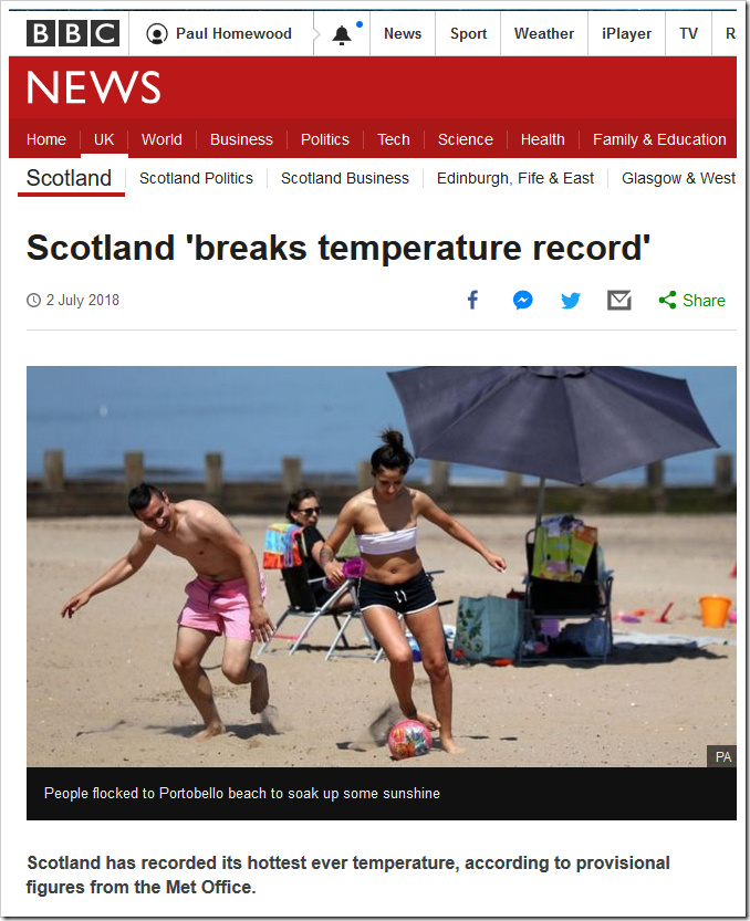 Scotland Sets New Temperature Record In Middle Of Car Park Not A