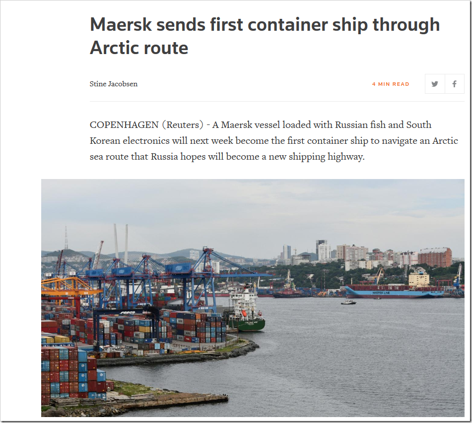 Maersk Sends Ice Vessel Through Arctic Route | NOT A LOT OF PEOPLE