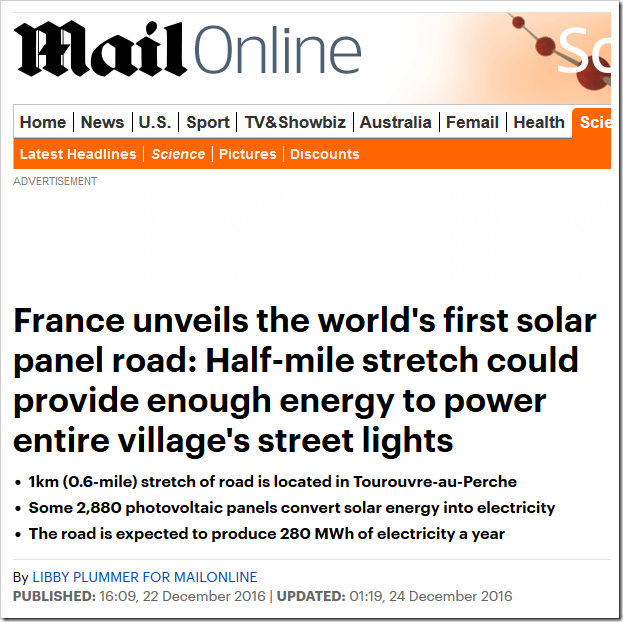 The World S First Solar Panel Road Not Such A Bright Idea After All