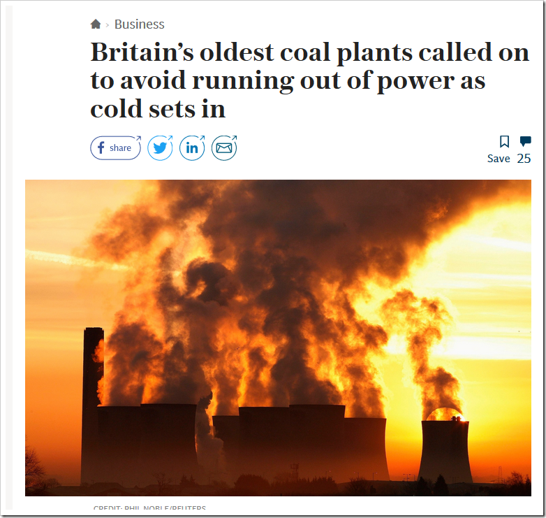 Britain's oldest coal plants called on to avoid running out