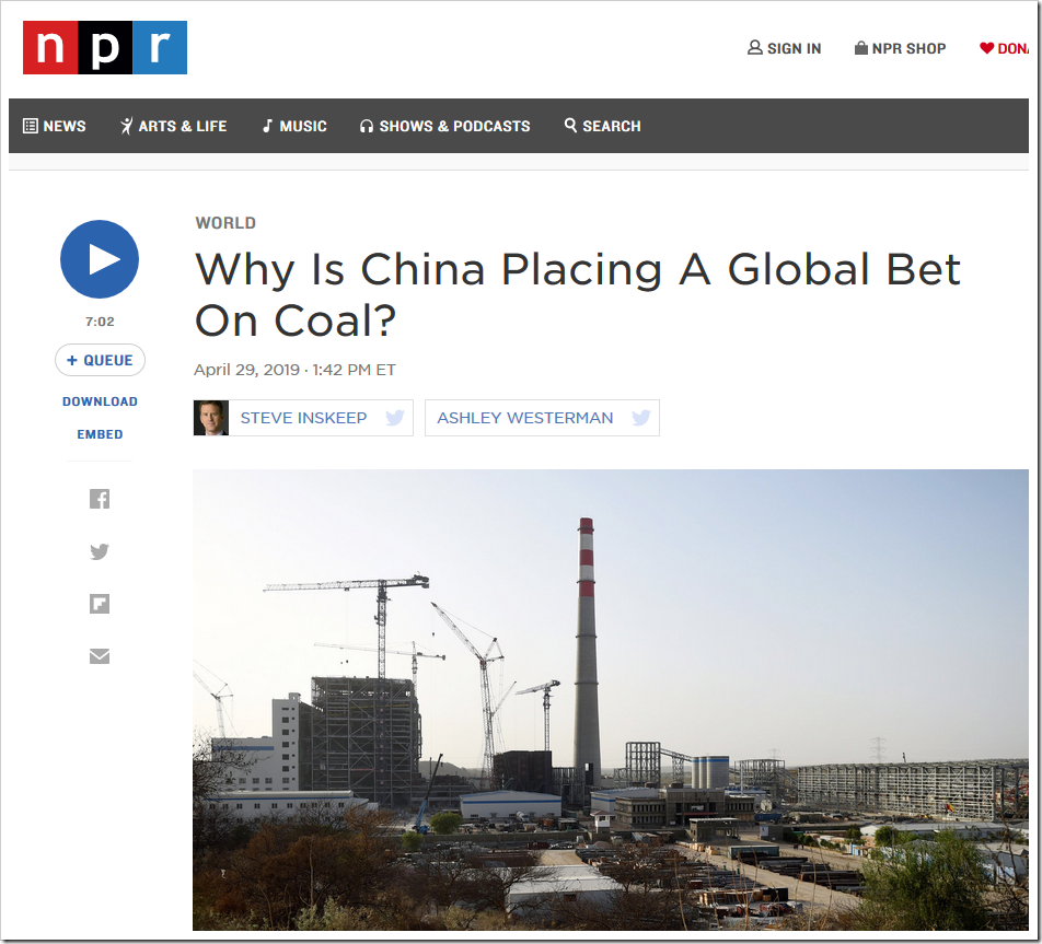 China Building 300 New Coal Power Plants Around The World