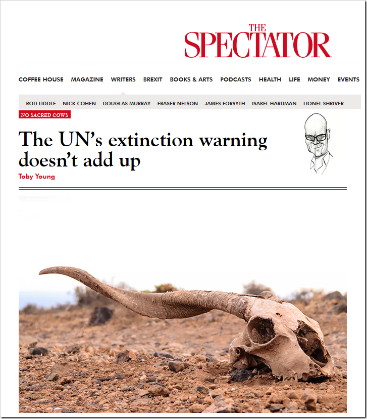 UN's '1 Million' Extinction Warning Does Not ADD Up – 'The word 'suggesting' is doing a lot of work' – 'We're just supposed to take it on faith'