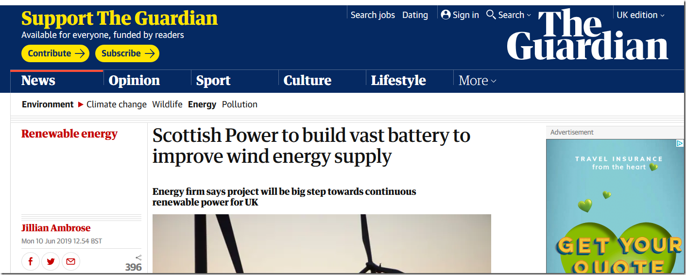 Scottish Powers Vast New Battery Not A Lot Of People Know That