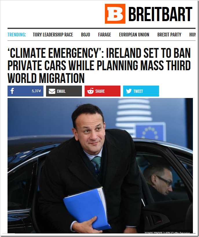 Climate Emergency': Ireland Set to Ban Private Cars | NOT A