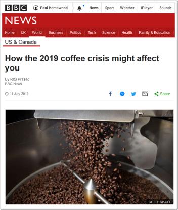 Coffee Crisis! | Iowa Climate Science Education