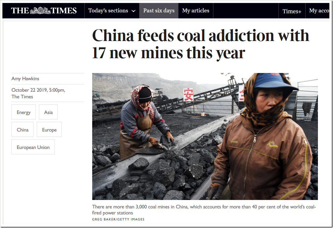 China feeds coal addiction with 17 new mines this year