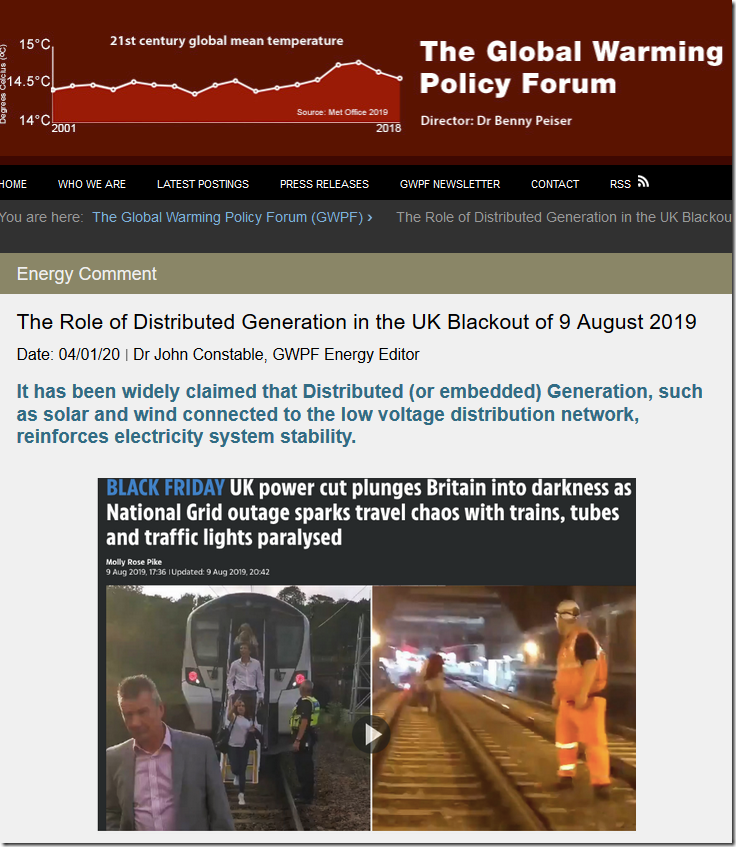 The Role of Distributed Generation in the UK Blackout of 9 August 2019