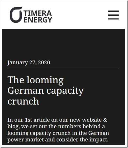 The looming German capacity crunch