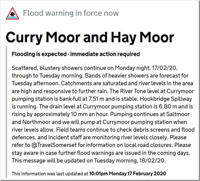 No Flooding In Somerset Levels, Thanks To Owen Paterson