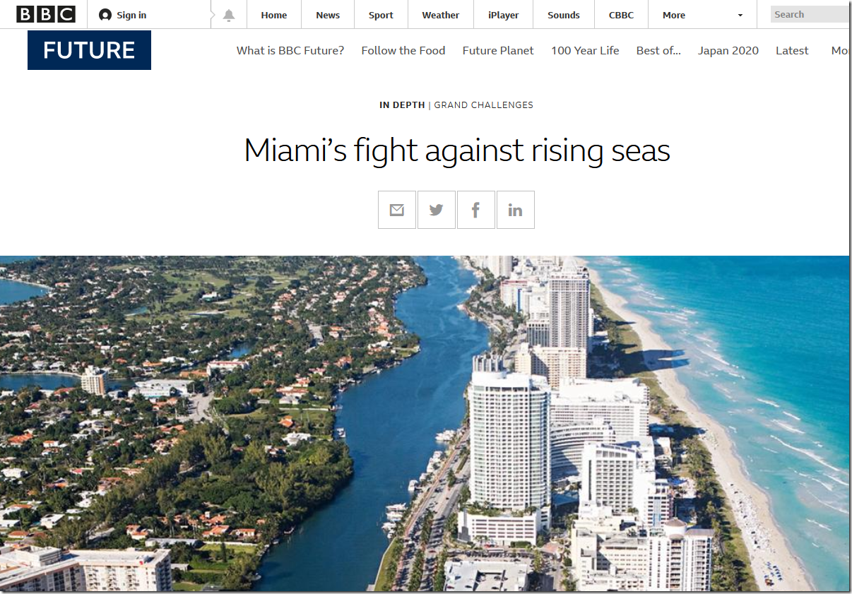 What The BBC Don't Want You To Know About Miami's Rising Seas