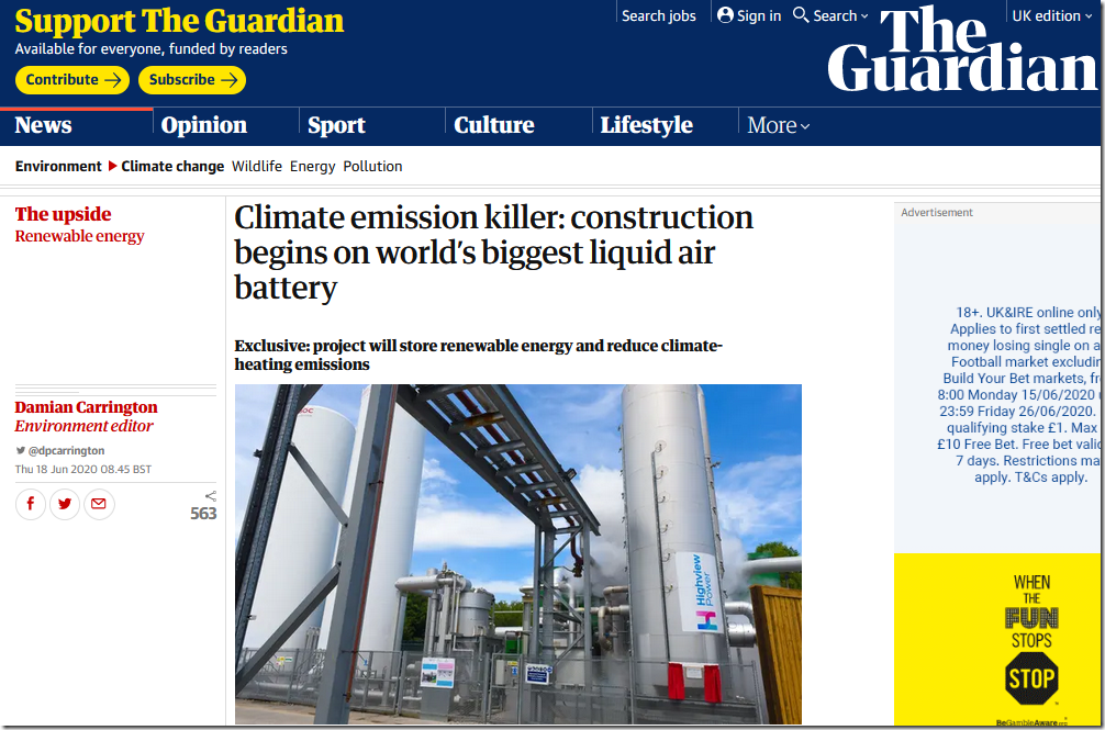Guardian's Energy Storage Delusion
