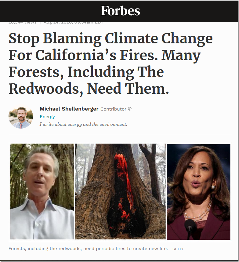 Stop Blaming Climate Change For California's Fires–Michael Schellenberger
