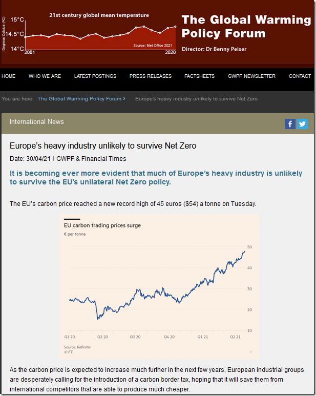 Europe's heavy industry unlikely to survive Net Zero