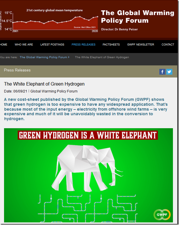 The White Elephant of Green Hydrogen