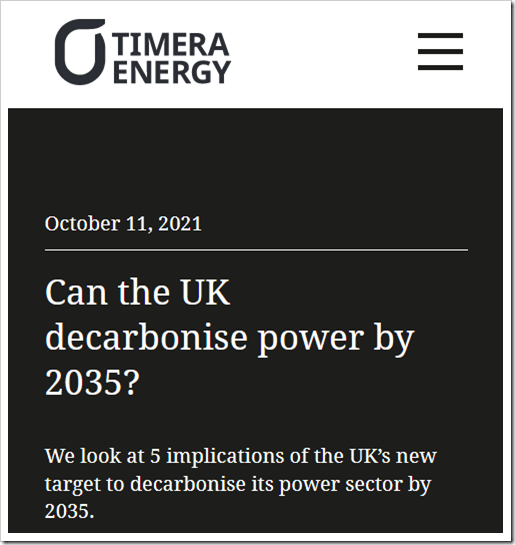 Can the UK decarbonise power by 2035?